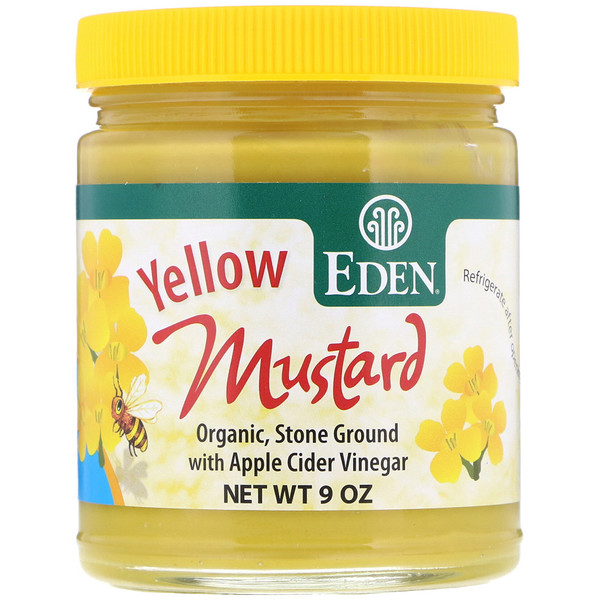 Eden Foods, Yellow Mustard, 9 oz (Discontinued Item)