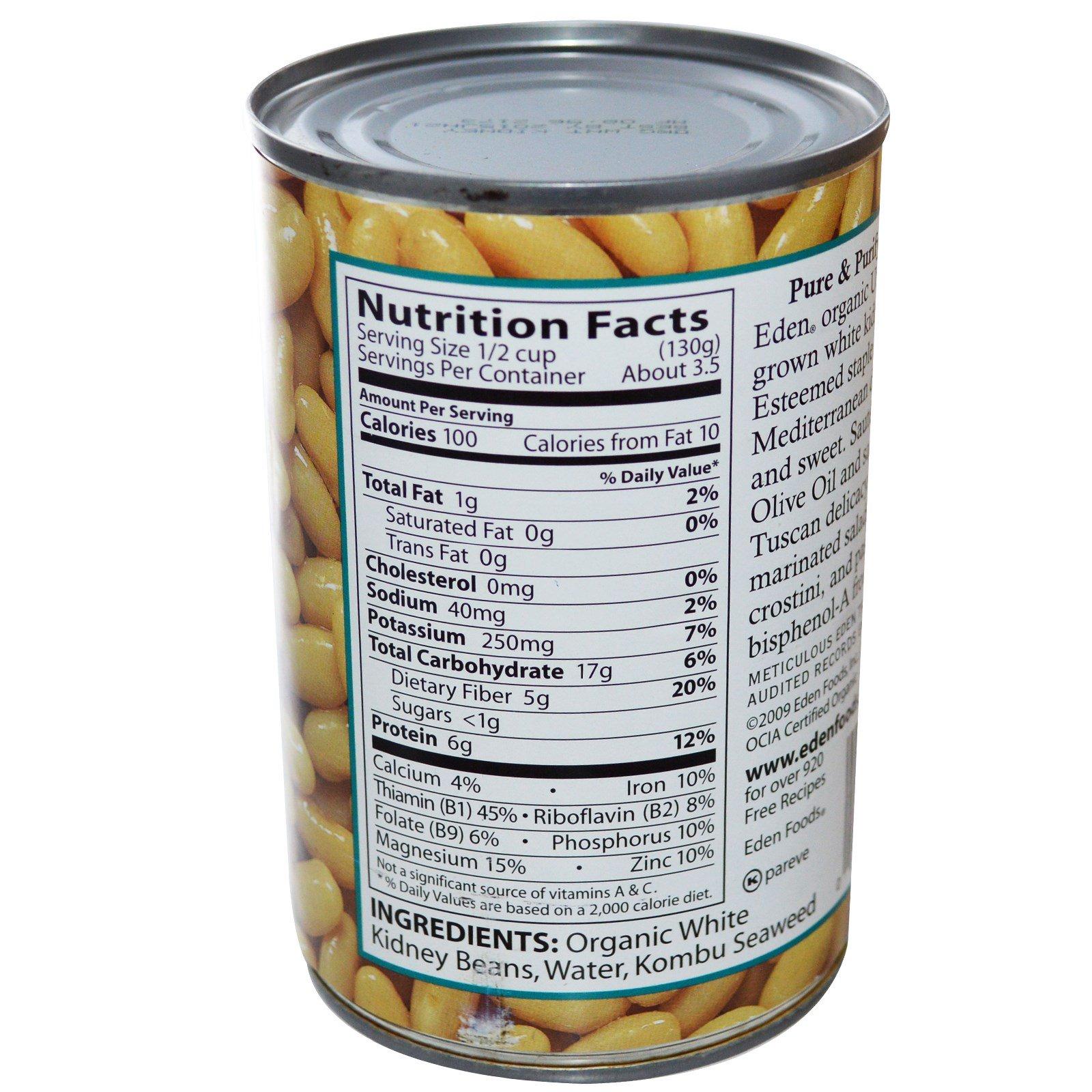 Nutritional value of white kidney beans