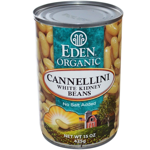 Eden Foods, Organic, Cannellini White Kidney Beans, 15 oz (425 g) (Discontinued Item)
