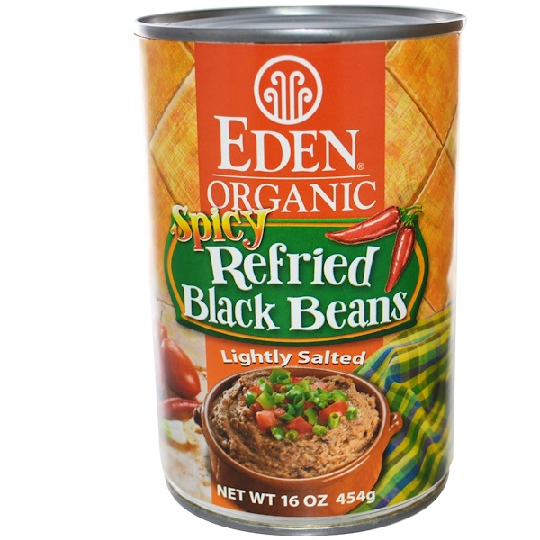 Eden Foods, Organic, Spicy Refried Black Beans, 16 oz (454 g) (Discontinued Item)