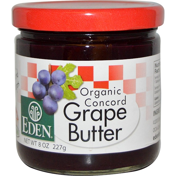 Eden Foods, Organic Concord Grape Butter, 8 oz (227 g) (Discontinued Item)