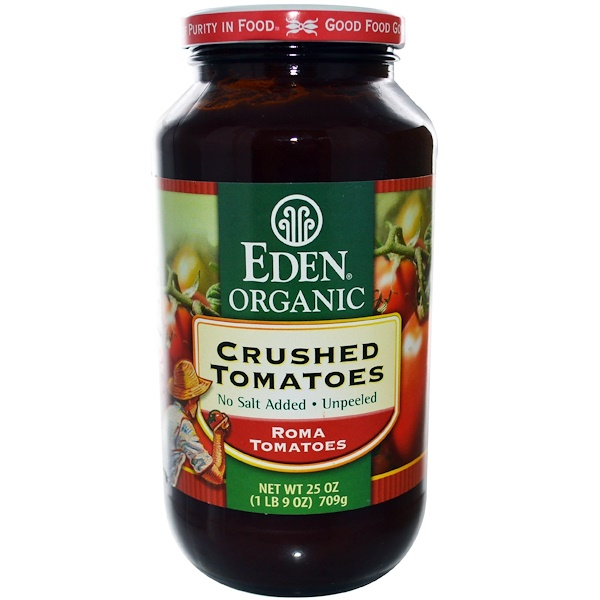 Eden Foods, Organic Crushed Tomatoes, 25 oz (709 g) (Discontinued Item)