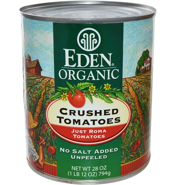 Eden Foods, Organic Crushed Tomatoes, Just Roma, 28 oz (794 g) (Discontinued Item)