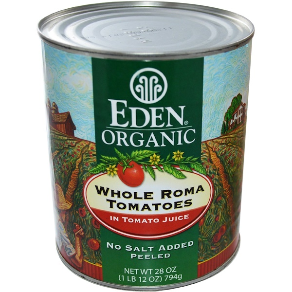Eden Foods, Organic Whole Roma Tomatoes, 28 oz (794 g) (Discontinued Item)