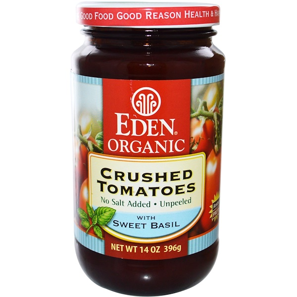 Eden Foods, Organic Crushed Tomatoes with Sweet Basil, 14 oz (396 g) (Discontinued Item)