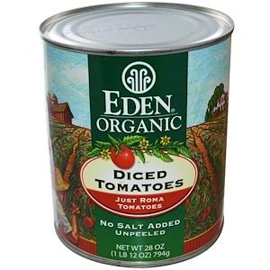 Эдэн Фудс, Organic Diced Tomatoes, Just Roma Tomatoes, 28 oz (794 g) отзывы