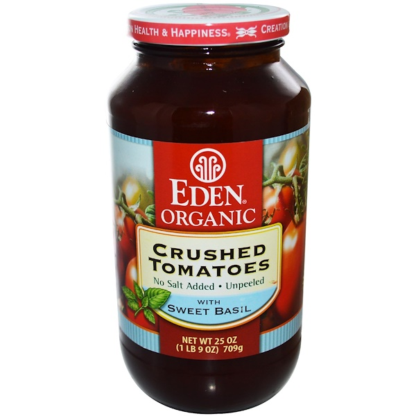 Eden Foods, Organic, Crushed Tomatoes, with Sweet Basil, 25 oz (709 g) (Discontinued Item)