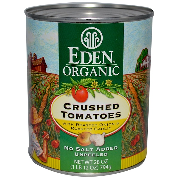 Eden Foods, Organic, Crushed Tomatoes with Roasted Onion & Roasted Garlic, 28 oz (794 g) (Discontinued Item)