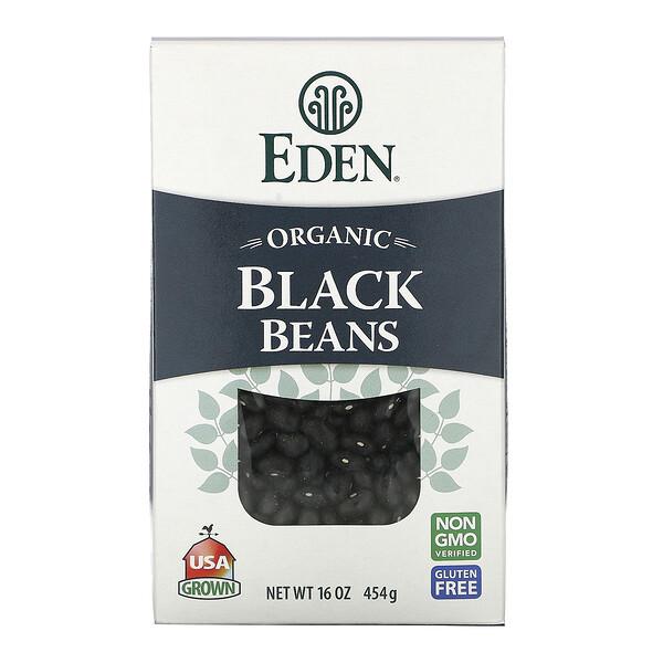 Frijoles negros orgánicos, 16 oz (454 g)