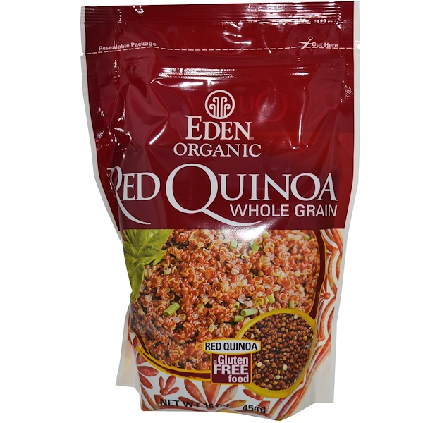 Organic Red Quinoa, Whole Grain, 16 oz (454 g)