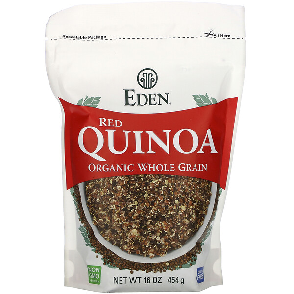 Organic Whole Grain, Red Quinoa, 16 oz (454 g)