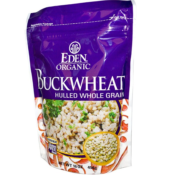 Organic, Buckwheat, Hulled Whole Grain, 16 oz (454 g)