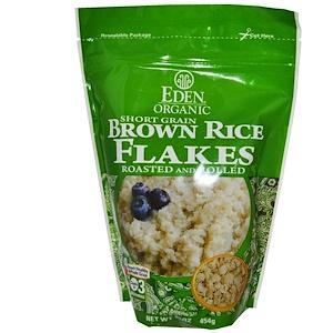 Эдэн Фудс, Organic, Short Grain Brown Rice Flakes, Roasted and Rolled, 16 oz (454 g) отзывы