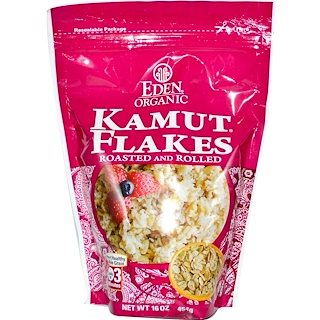 Eden Foods, Organic Kamut Flakes, Roasted & Rolled, 16 oz (454 g)