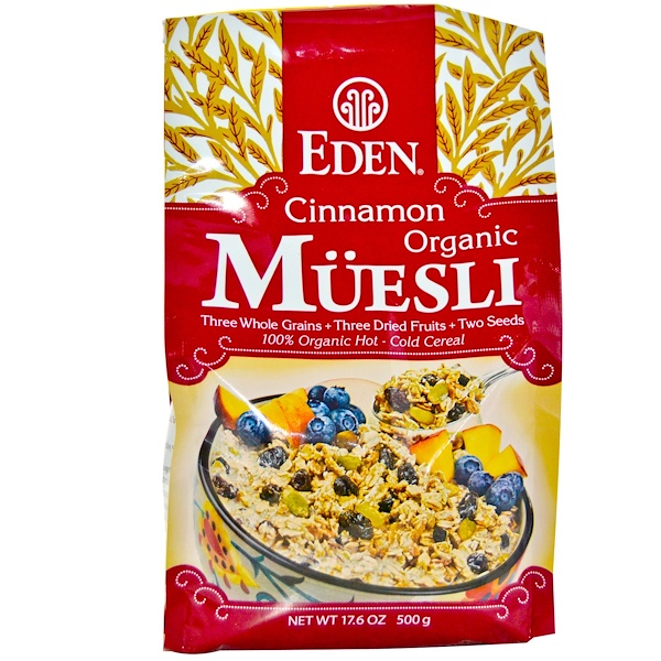 Eden Foods, Organic Muesli, Cinnamon, 17.6 oz (500 g) (Discontinued Item)