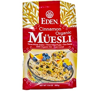 Эдэн Фудс, Organic Muesli, Cinnamon, 17.6 oz (500 g) отзывы