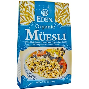Эдэн Фудс, Organic Muesli, 17.6 oz (500 g) отзывы покупателей