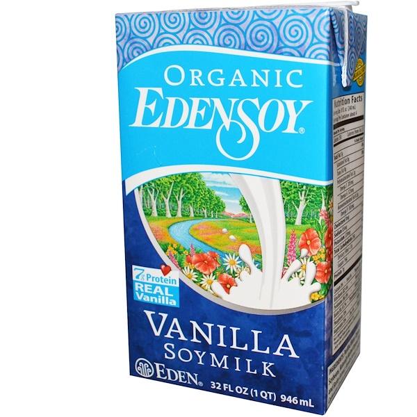 Eden Foods, Organic EdenSoy, Vanilla Soymilk, 32 fl oz (946 ml) (Discontinued Item)