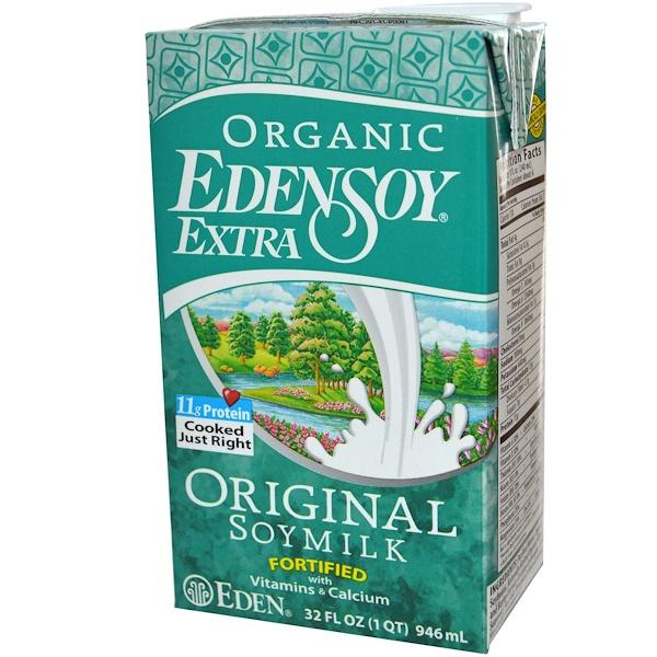 Eden Foods, Organic EdenSoy Extra, Original Soymilk, 32 fl oz (946 ml) (Discontinued Item)