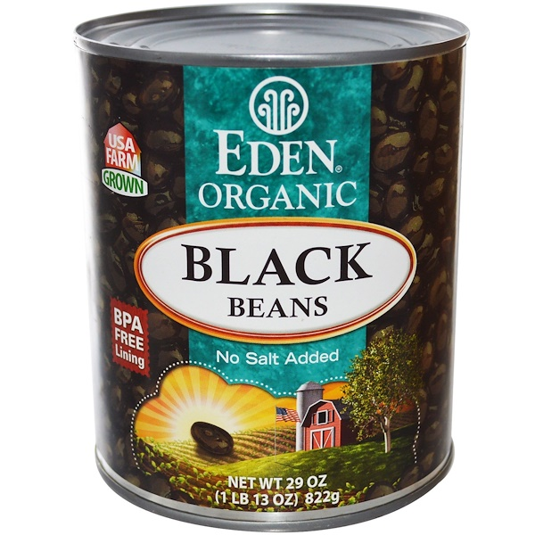 Eden Foods, Organic, Black Beans, 29 oz (822 g) (Discontinued Item)