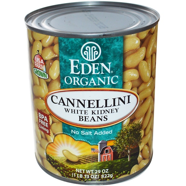 Eden Foods, Organic Cannellini, White Kidney Beans, 29 oz (822 g) (Discontinued Item)