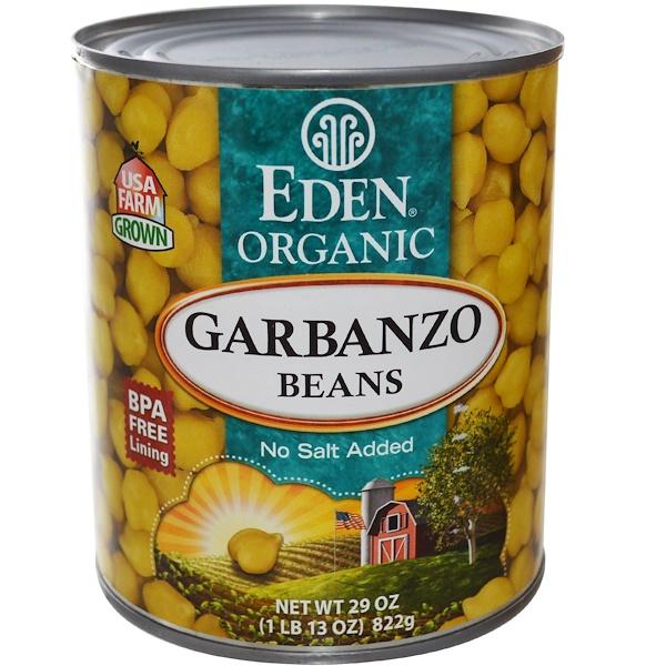 Eden Foods, Органические бобы Гарбанзо (нут), 29 унций (822 г) (Discontinued Item)