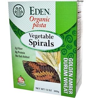 Eden Foods, Organic Pasta , Vegetable Spirals, 12 oz (340 g)