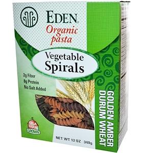 Эдэн Фудс, Organic Pasta, Vegetable Spirals, 12 oz (340 g) отзывы покупателей