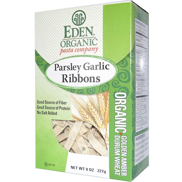 Eden Foods, Organic Pasta Company, Parsley Garlic Ribbons, 8 oz (227 g) (Discontinued Item)