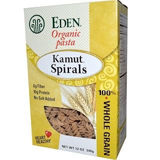 Eden Foods, 유기농 파스타, 카뮤 스파이럴, 12 온스 (340 g)