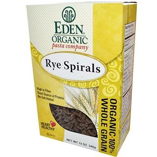 Eden Foods, Organic Pasta Company, Rye Spirals, 12 oz (340 g)