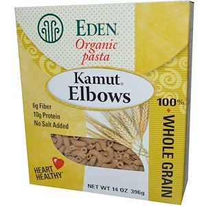 Эдэн Фудс, Organic Pasta, Kamut Elbows, 14 oz (396 g) отзывы