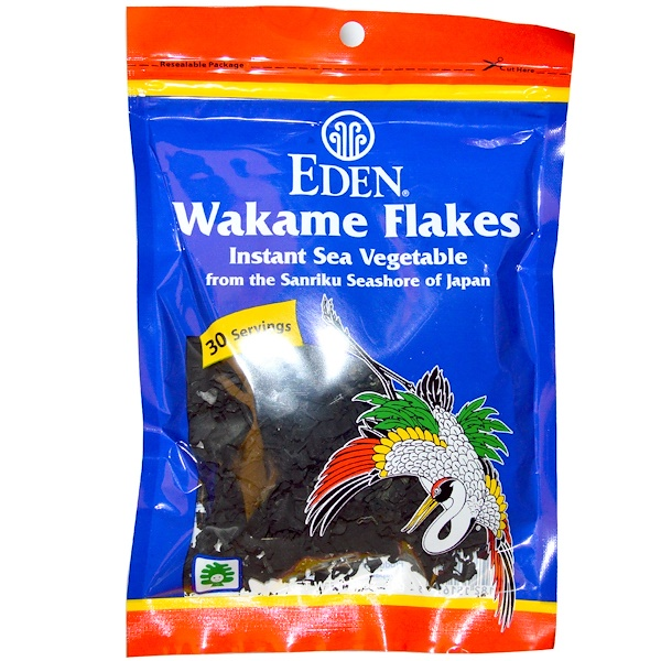 Eden Foods, Wakame Flakes, 1.06 oz (30 g) (Discontinued Item)