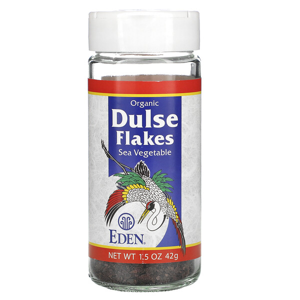 Eden Foods, Organic, Dulse Flakes, Sea Vegetable, 1.5 oz (42 g)