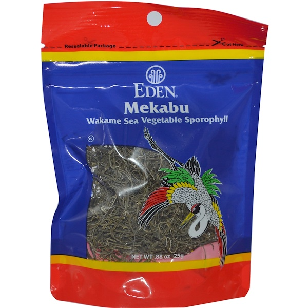 Eden Foods, Mekabu, Wakame Sea Vegetable Sporophyll, .88 oz (25 g) (Discontinued Item)