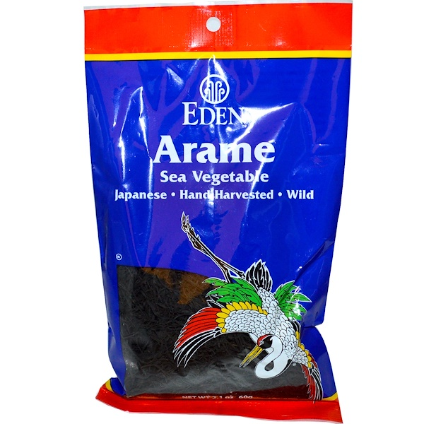 Eden Foods, Arame Sea Vegetable, 2.1 oz (60 g) (Discontinued Item)