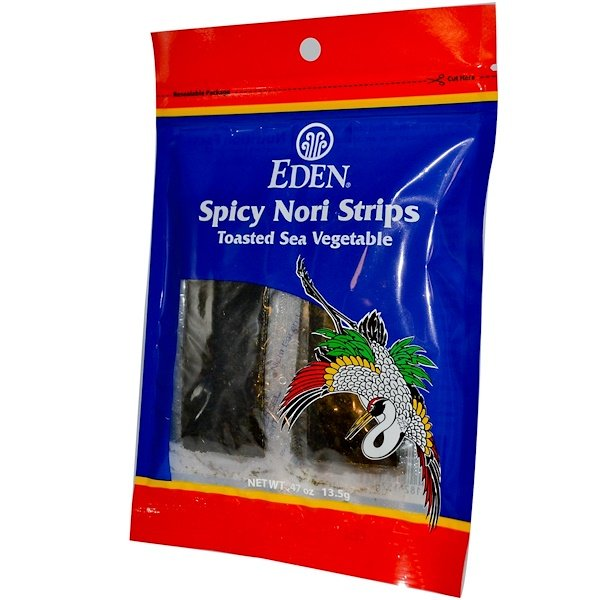 Eden Foods, Spicy Nori Strips, .47 oz (13.5 g) (Discontinued Item)