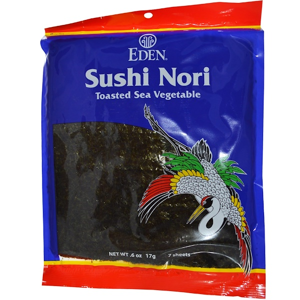 Eden Foods, Sushi Nori, 7 Sheets, .6 oz 17 g (Discontinued Item)