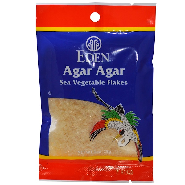 Eden Foods, Agar Agar, Sea Vegetables Flakes, 1 oz (28 g) (Discontinued Item)