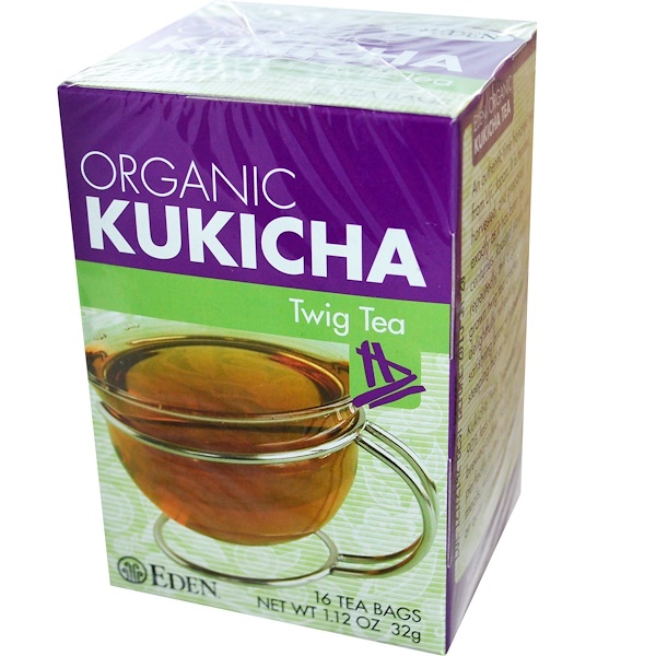 Eden Foods, Organic, Kukicha Twig Tea, 16 Tea Bags, 1.12 oz (32 g) (Discontinued Item)