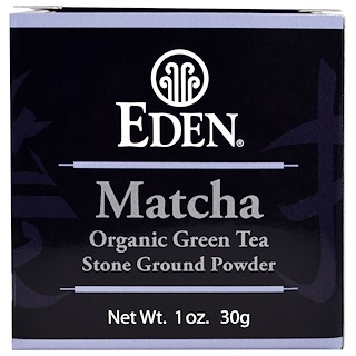 Eden Foods, Matcha, Organic Green Tea Stone Ground Powder, 1 oz (30 g)