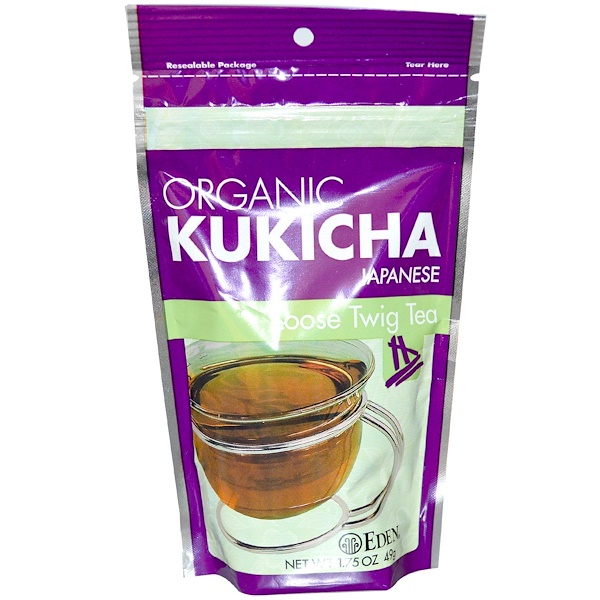 Eden Foods, Organic Japanese Kukicha, Loose Twig Tea, 1.75 oz (49 g) (Discontinued Item)