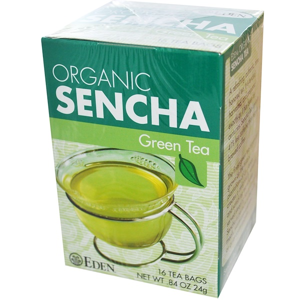 Eden Foods, Organic, Sencha Green Tea, 16 Tea Bags, .84 oz (24 g) (Discontinued Item)