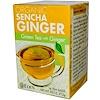 Eden Foods, Органический Сенча имбирь, зеленый чай с имбирем 16 чайных пакетиков, .95 унции (27.2 г)