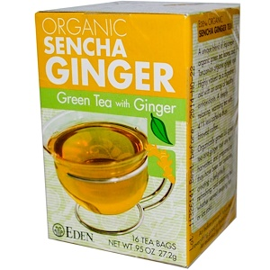 Эдэн Фудс, Organic Sencha Ginger, Green Tea with Ginger, 16 Tea Bags, .95 oz (27.2 g) отзывы