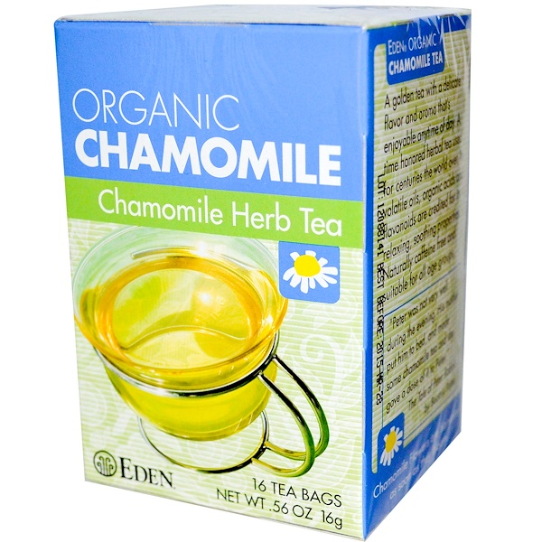 Eden Foods, Organic, Chamomile Herb Tea, 16 Tea Bags, .56 oz (16 g) (Discontinued Item)