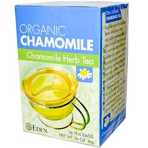 Эдэн Фудс, Organic, Chamomile Herb Tea, 16 Tea Bags, .56 oz (16 g) отзывы покупателей