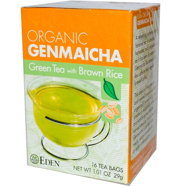 Eden Foods, Organic Genmaicha, Green Tea with Brown Rice, 16 Tea Bags 1.01 oz (29 g)
