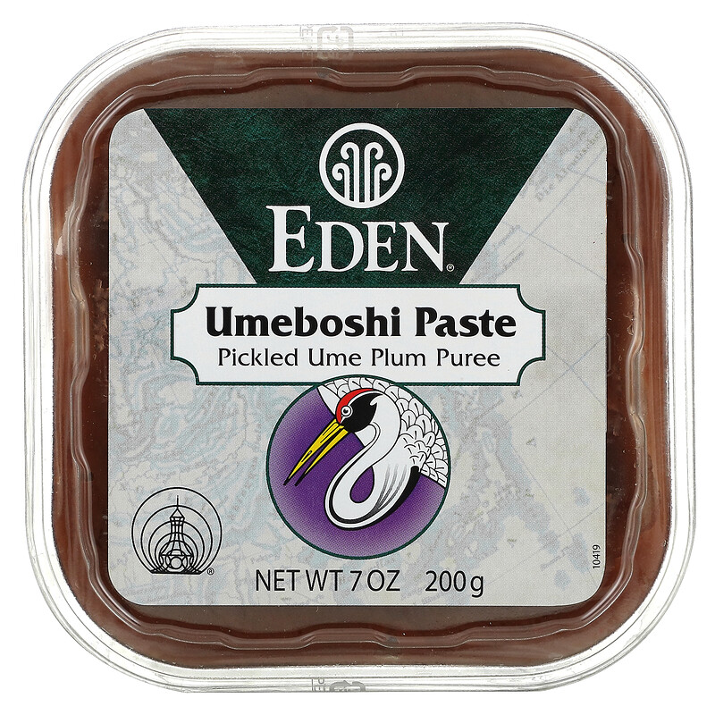 Eden Foods, Umeboshi Paste, Pickled Ume Plum Puree, 7 oz (200 g)