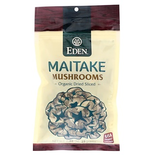 Eden Foods, Maitake Mushrooms, Organic Dried Sliced, 0.88 oz (25 g)